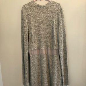 LF grey knit dress